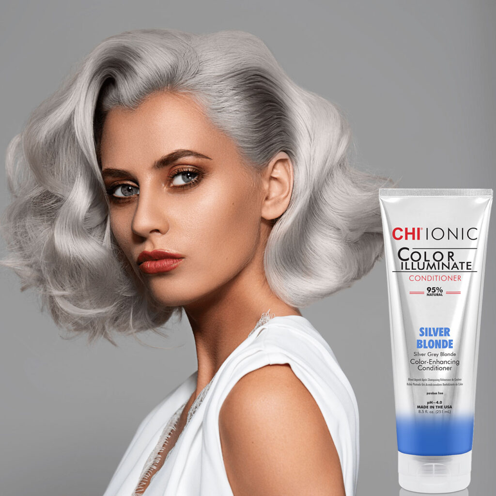 CHI Color Illuminate Silver Blonde with Model 1 NEW - فروشگاه اینترنتی می شاپ
