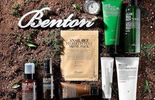 بسته بندی سبز محصولات پوستی بنتون
